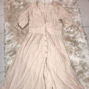 Like-New Free People A-Line, V-Neck button Maxi